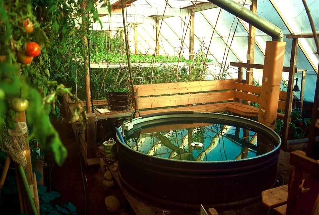 Solar heat stored in water